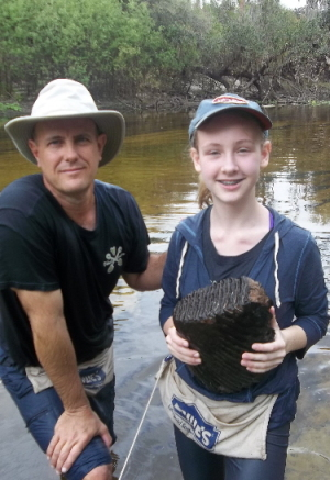 18.6 lb Mammoth tooth found by Indigo S.